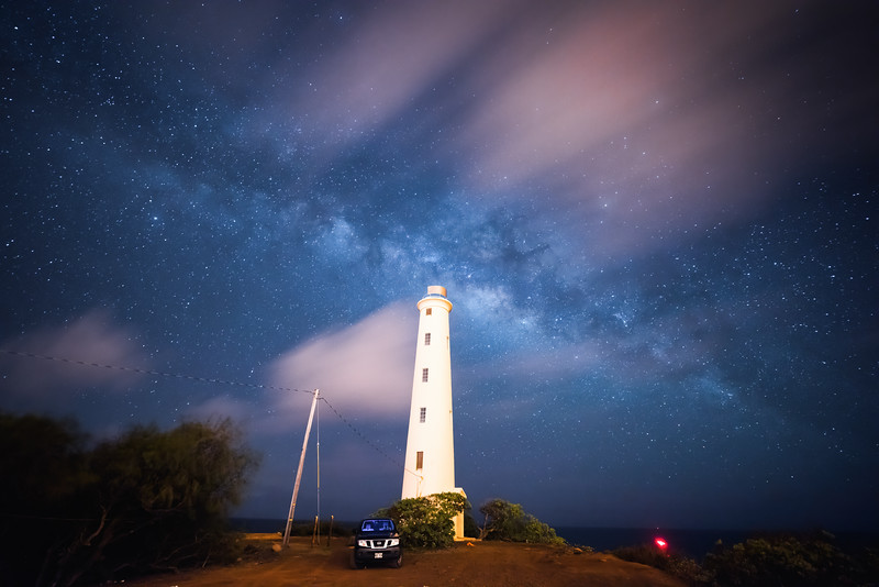 Lighthouse Milky Way