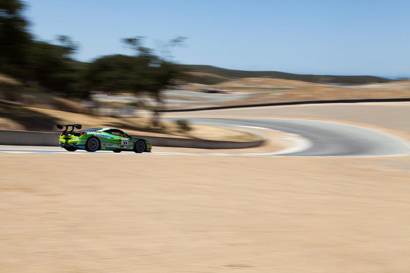 Damon Ockey heads toward Rainey Curve in the #31 Ferrari 458 EVO. © 2014 Victor Varela