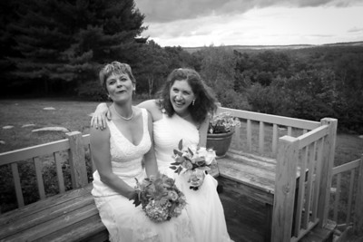 Karen & Marjorie (black & white)