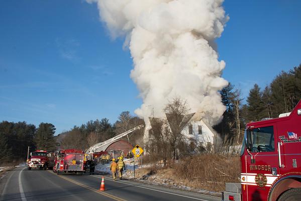 Moore, House Fire Weathersfield