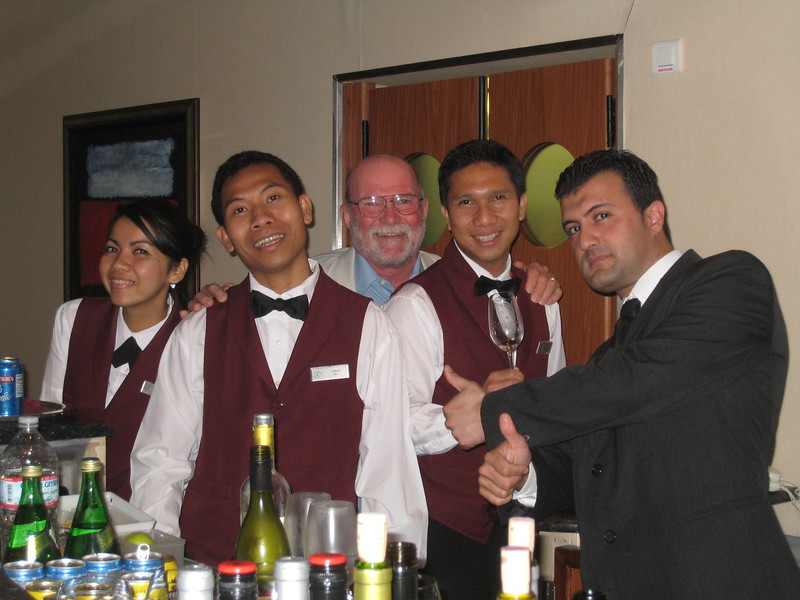 David with the bar staff