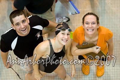 2007 MHSAA Div. 1 Girls State Swimming Championships, November 16-17 @ Eastern Michigan University