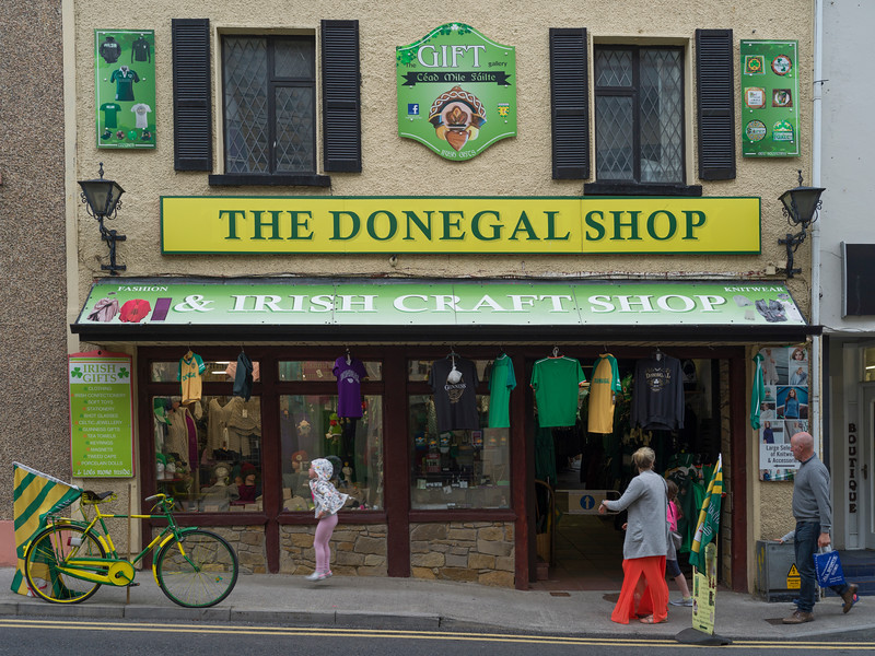 Fa�ade of a souvenir shop, Donegal, Republic of Ireland