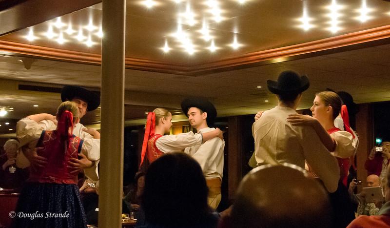 Folk dancers aboard our ship