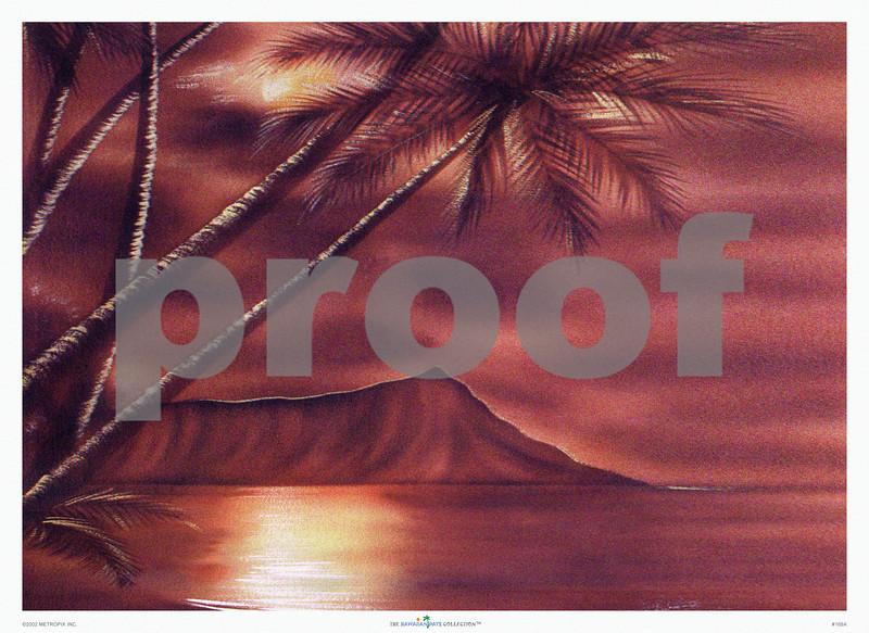 168: 'Hale Pua Studio -- Diamond Head' Oil on Board, ca 1940. (PROOF watermark will not appear on your print)