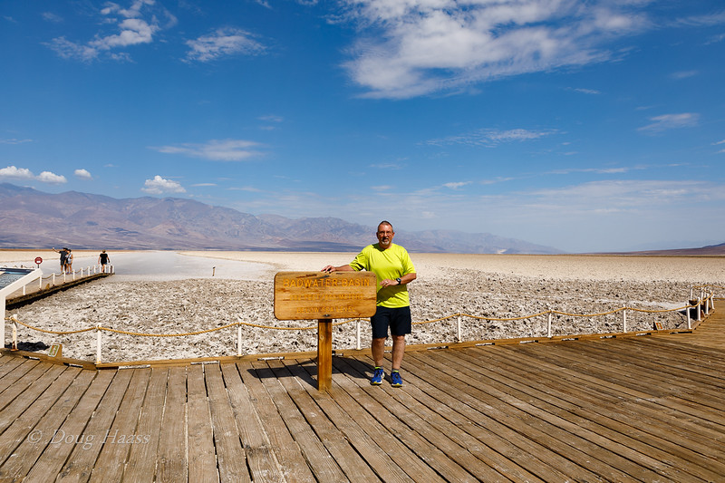 Badwater Basin...lowest point in North America at 282 feet below sea level. July 2018.