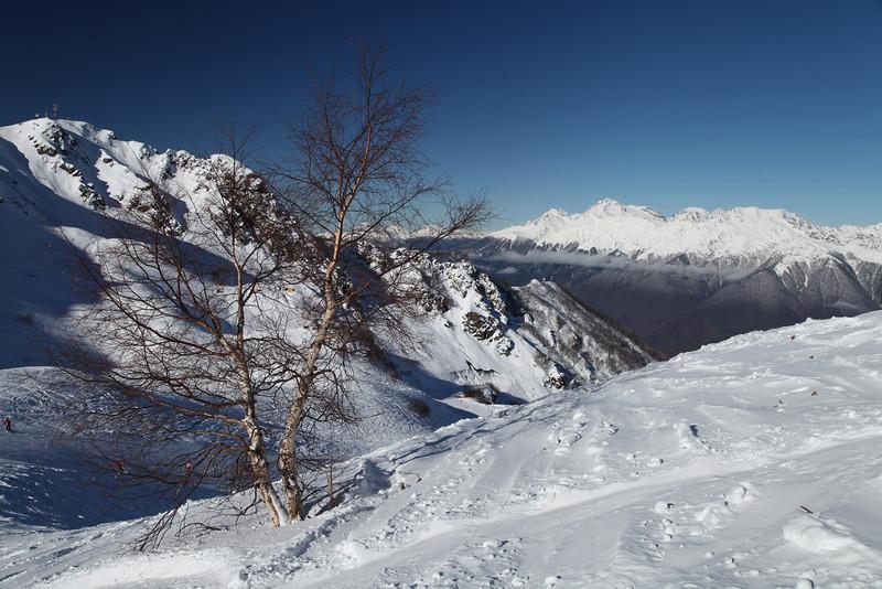 Rosa Kultor Ski Area near Krasnaya Polyana, Russia.