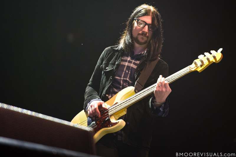 Jack Lawrence of The Raconteurs performs at The Citrus Bowl in Orlando, Florida during Orlando Calling on November 12, 2011
