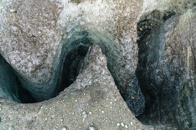 Glacial drainage near Jokulsarlon, Iceland.