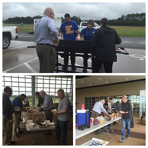 Athletics - Student Senate Cookout at Airport