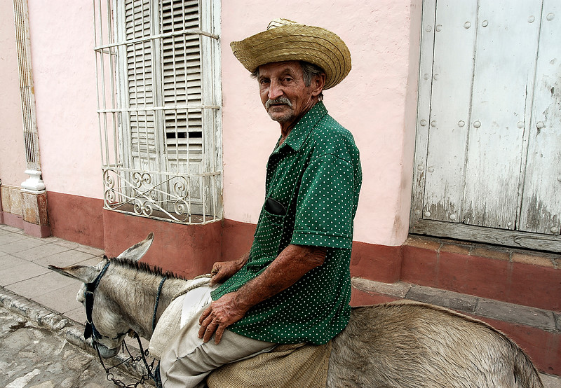 Man on his donkey in Remedios.  Cuba, 2006.