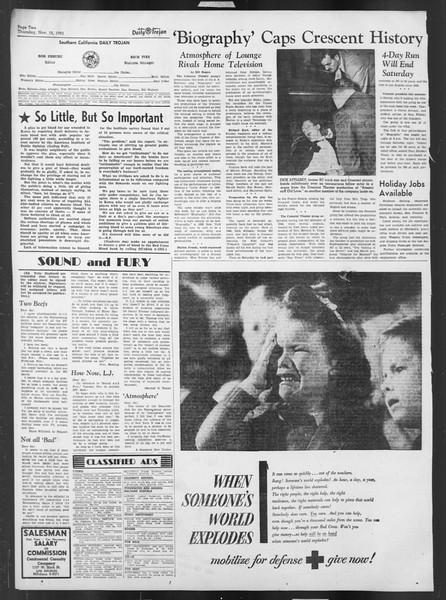 Daily Trojan, Vol. 43, No. 43, November 15, 1951
