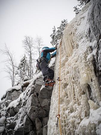 Ice-climbing at Haminalahti 24.1.2016