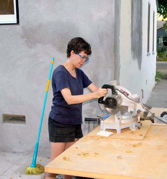 Prior to today, Shelly hadn't used power tools... now she's empowered!