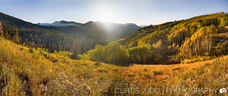 Big Cottonwood Autumn Sunset 1