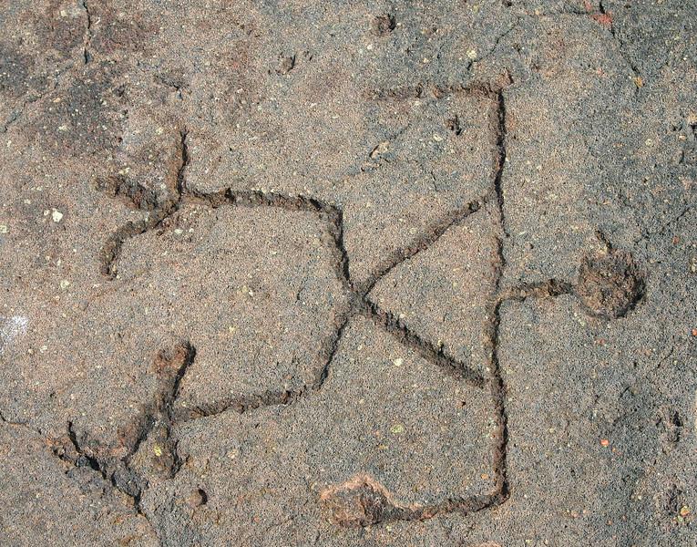 Petroglyph man