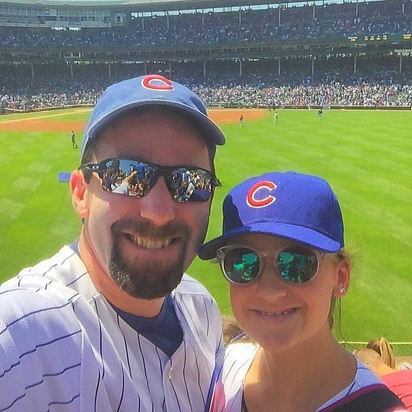 Last (1/2 day of 8th grade) means we can spend the afternoon in the Bleachers!! #GoCubsGo
