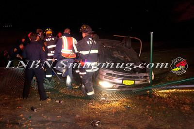 West Babylon F.D. Overturned Auto Bergen Ave & Sandpiper Lane IVO Bergen Point Golf Course 11-15-13
