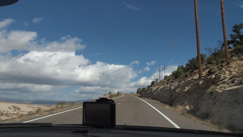 This is a 2 minute video of the scenery on highway 12 heading east from Kiva Koffeehouse towards Boulder, UT along the ridge.  Nothing exciting happens, but you can see the dropoffs to either side (looks a lot steeper in real life).  Be forewarned that the camera bobs up and down a lot.