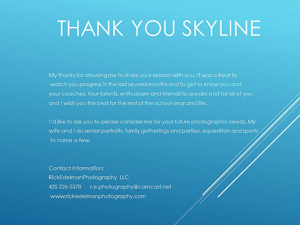 Thank You Skyline Gymnastics