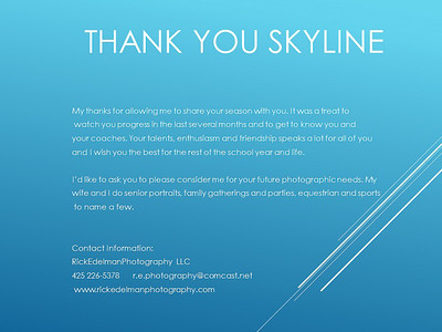 Skyline Gymnastics Thank You