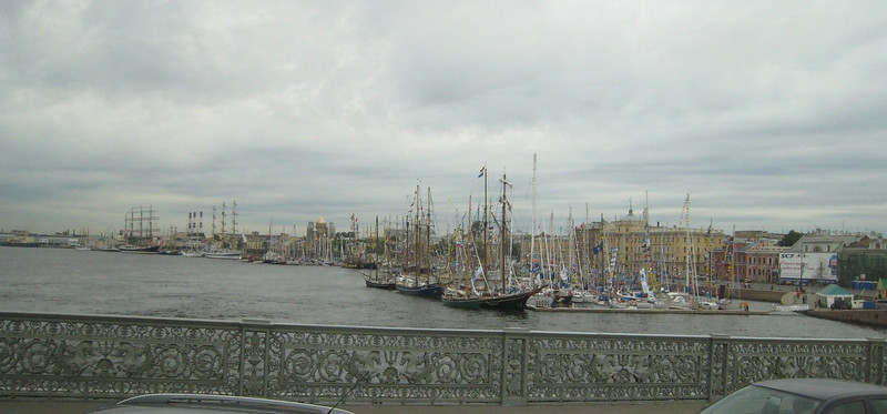 St. Petersburg - there was a Tall Ship festival taking place