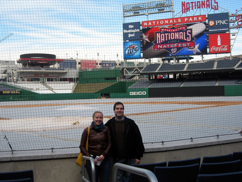 Craig and Katharine, in the Lexus Presidents Seats directly behind home plate