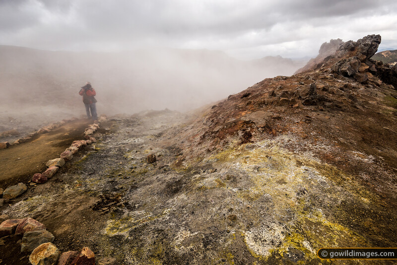Sulphurous vent near Landmannalaugar