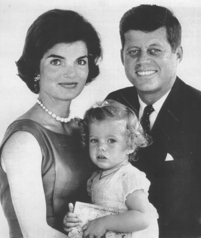 . A family portrait with the Kennedy\'s first child, Caroline, 2, in 1960.