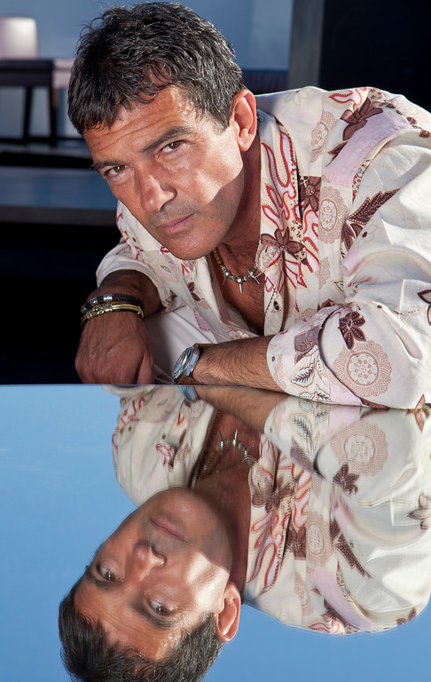 . Actor Antonio Banderas poses for photos to promote the film The Skin I Live In at the 64th international film festival, in Cannes, southern France, Friday, May 20, 2011. (AP Photo/Joel Ryan)