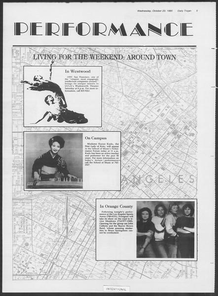 Daily Trojan, Vol. 100, No. 39, October 25, 1985