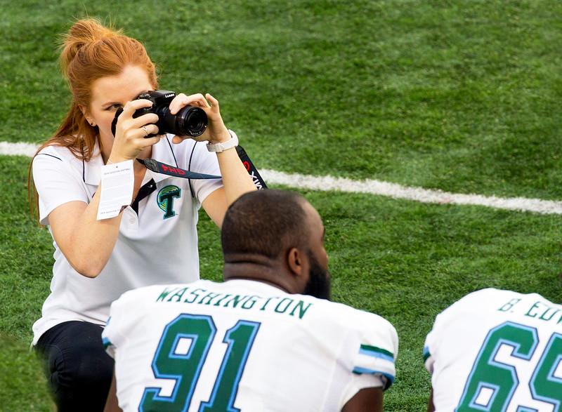 A Tulane photographer at work
