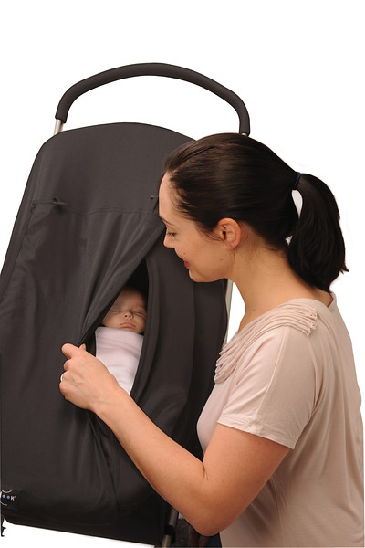 Black Sleep Pod - Mother checking on baby.jpg