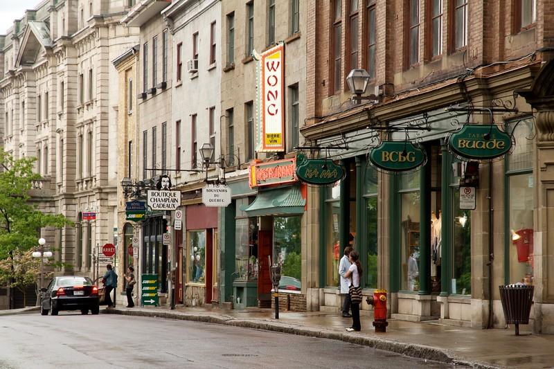 Rue de Buade. Quebec City, Canada.