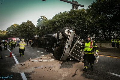 Tractor Trailor Rollover, Rt 9, 8-18-14