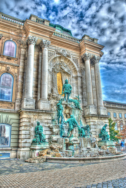 "Matthias Fountain at the Royal Palace. HDR, ""Grunge"" Version -- I thought it looked neat (brings out a lot of the texture)"