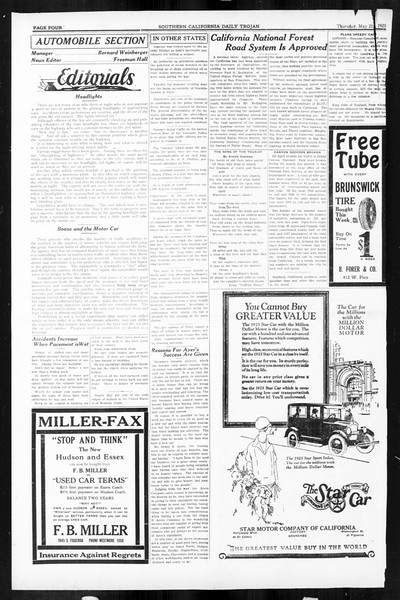 Daily Trojan, Vol. 16, No. 110, May 21, 1925