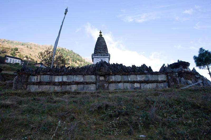Chorten in Solu, Nepal.
