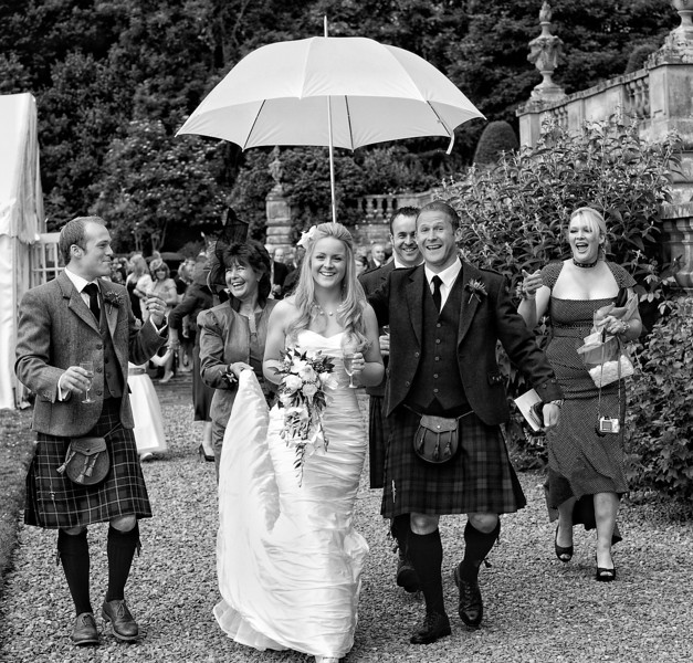 Rainy Wedding Day Photograph