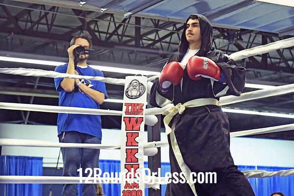 Bout 3: Semi-Pro Boxing, Danny Williams, Red Wrist Wraps  vs Radames Garcia, Blue Wrist Wraps