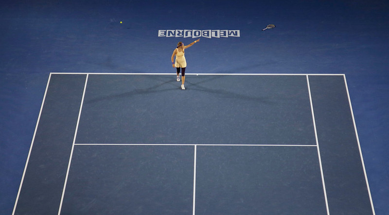 . Victoria Azarenka of Belarus celebrates after defeating China\'s Li Na in the women\'s final  at the Australian Open tennis championship in Melbourne, Australia, Saturday, Jan. 26, 2013. (AP Photo/Rob Griffith)
