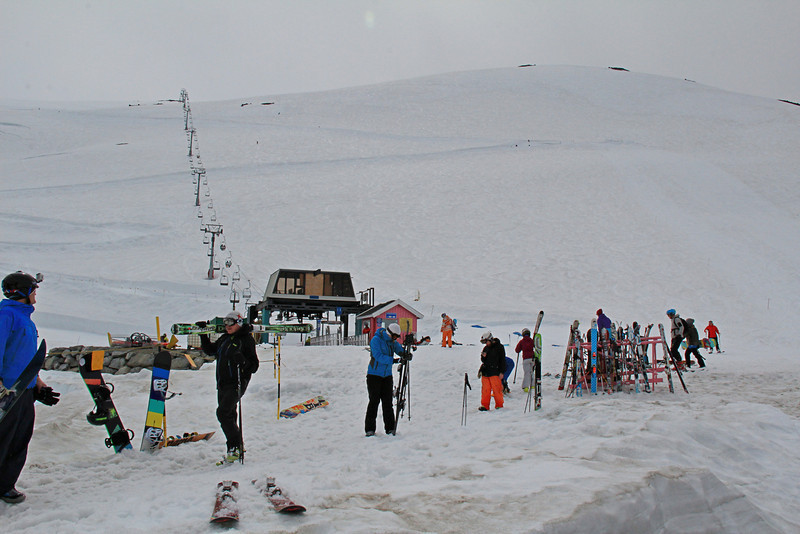 This ski area, in the mountains above Helleslyt, has snow all year long. This is late June, 2012.