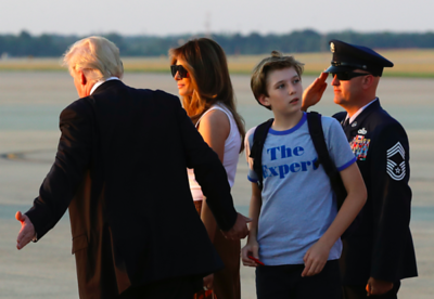 melania-trump-son-barron-move-into-the-white-house