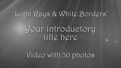 Light Rays and White Borders