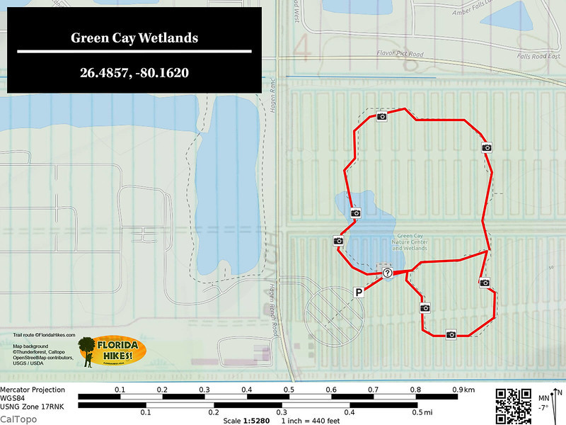 Green Cay Wetlands Trail Map