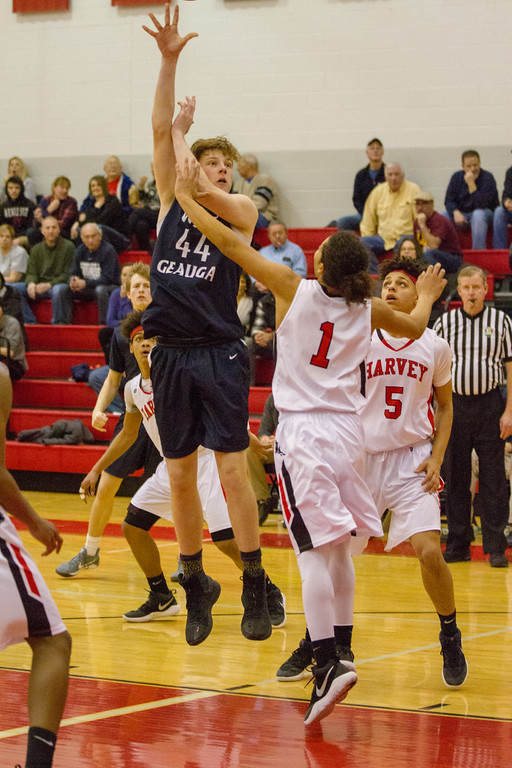 . Barry Booher - The News-Herald Action from Harvey-West Geauga boys basketball Feb. 2.