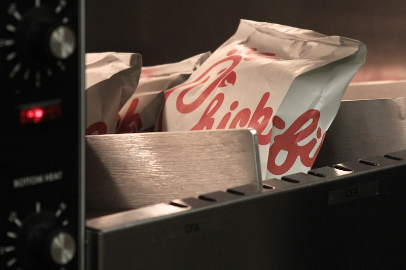 Chick-fil-a staff produced hundreds of sandwiches to be given to Gardner-Webb students on their one year anniversary.