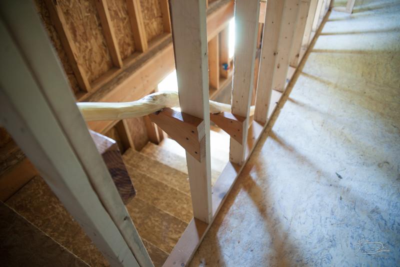 Handrail mounting blocks