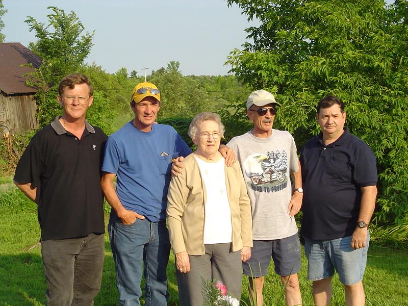 Tom, John, Norma, David & Dale (July 7, 2006).JPG