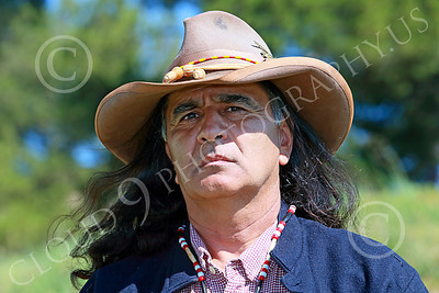 Pictures of Historical Re-Enactors of U.S. Army American Indian Western Frontier Scouts